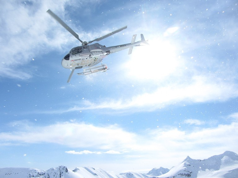 Heliskiing opens up a whole world of opportunities for fresh powder but at a heavy environmental cost