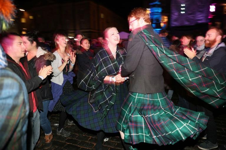 Scottish Hogmanay Ceilidh Dancing