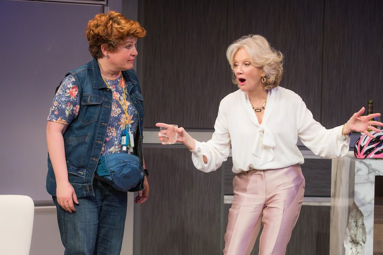 Klea Blackhurst and Hayley Mills in PARTY FACE at City Center Stage II - Photo by Jeremy Daniel