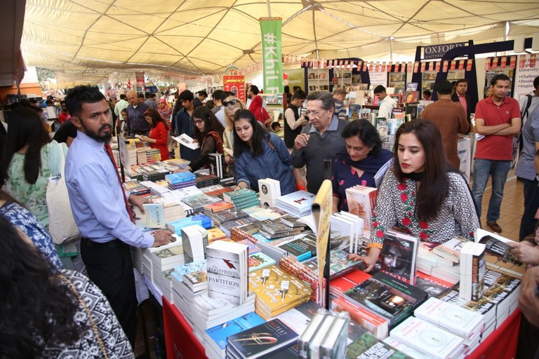 Book stall at the 2017 festival