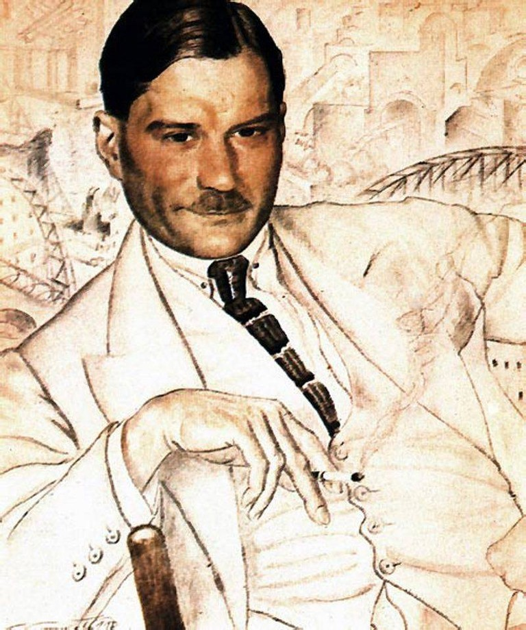 Evgeny Zamyatin as painted by Kustodiev