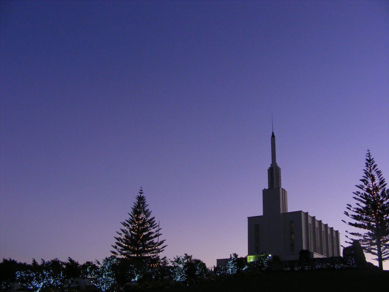 Annual Christmas Light Display at the LDS (Mormon) Temple in Hamilton, New Zealand