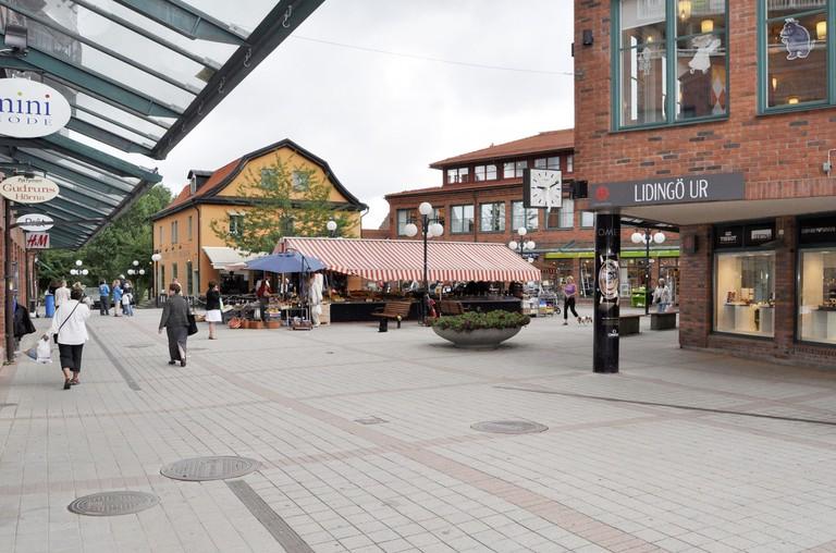 The centre of Lidingo is very quaint