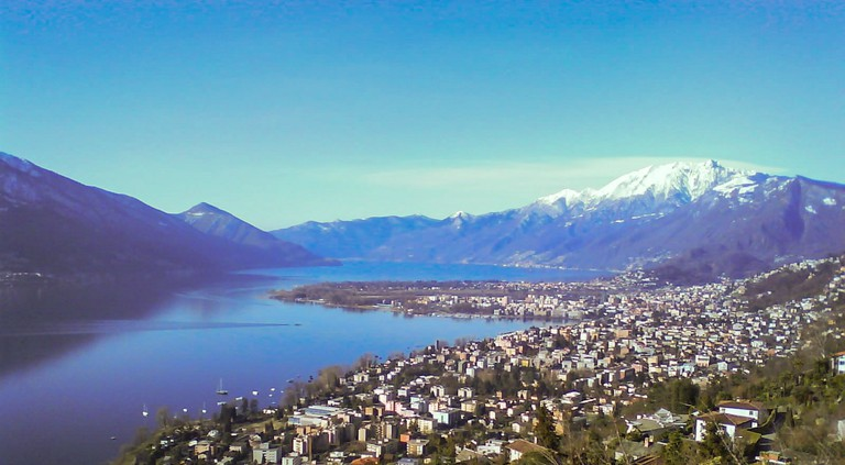 Locarno basking in its 2,300 hours of annual sunshine