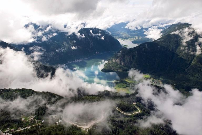 """Hallstätter See von """"Five Fingers"""" aus gesehen"""