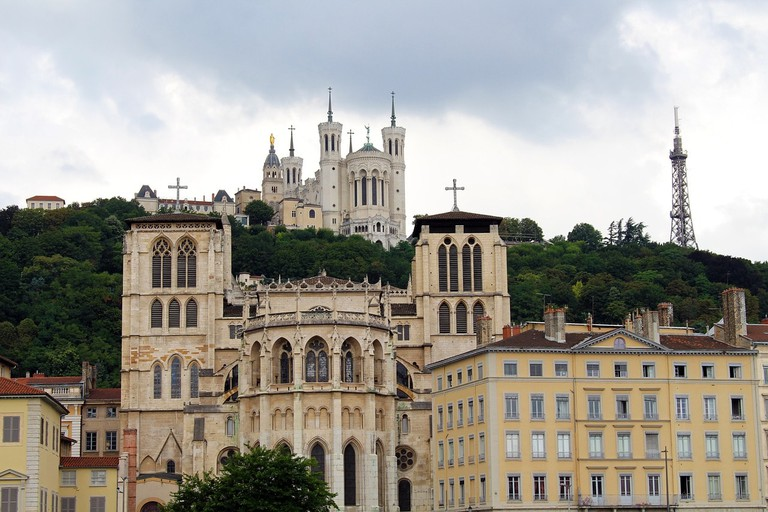 Historic architecture in Lyon, France