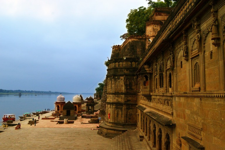 Maheshwar Fort alongside river Narmada