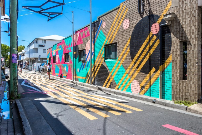 One of Byron's colourful side streets
