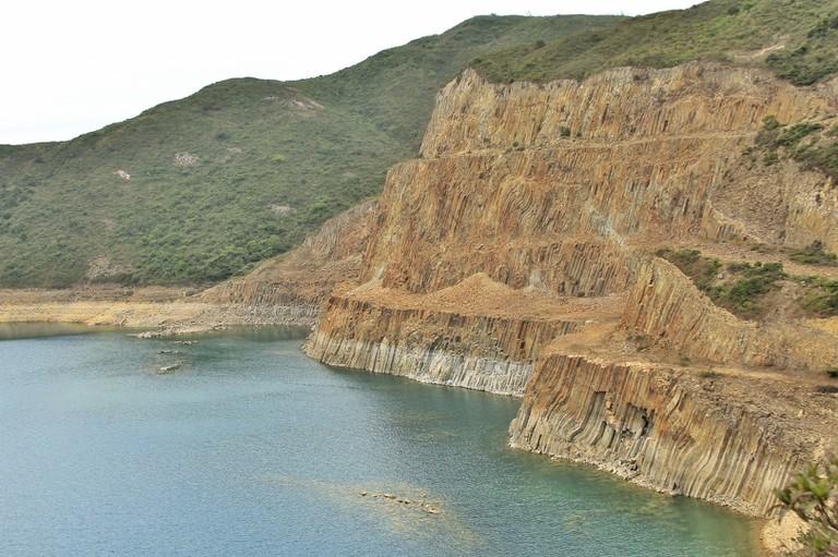 The calm ocean and unique rocks