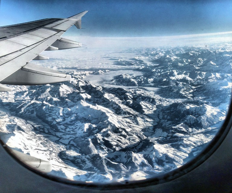 Aeroplane view of the alps | © Panoramas/Flickr