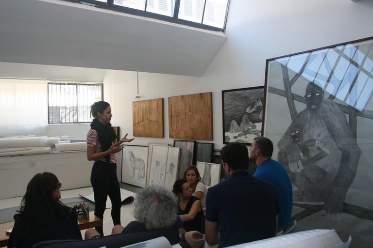 Moran Kliger in her studio