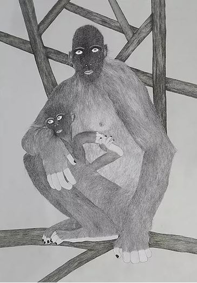 A piece from Kliger's 'Primates' series