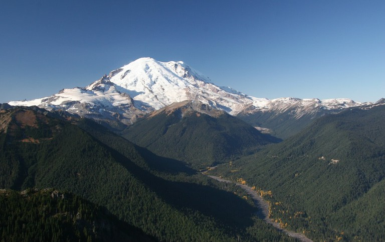 Mount Rainier and White River from Crystal Peak