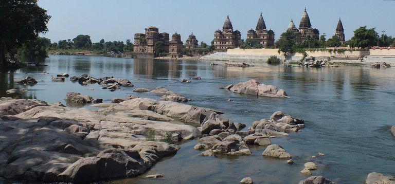 Cenotaphs of Orchha on the banks of Betwa River