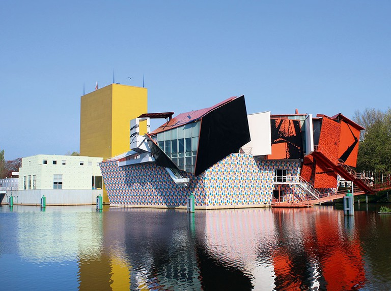 Groninger Museum, the modernist contemporary art museum in Groningen, The Netherlands
