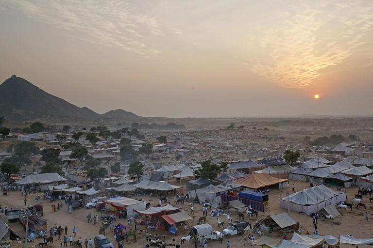 Panoramic view of Pushkar Fair