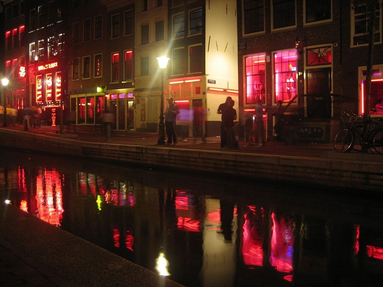 A red-light district