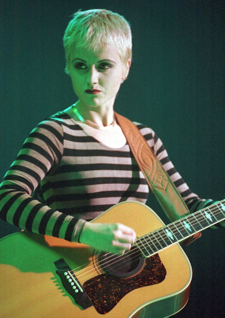 Dolores O'Riordan in the early days of The Cranberries