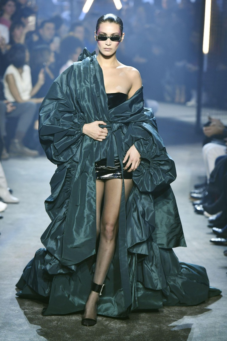 Mandatory Credit: Photo by Dominique Maitre/WWD/REX/Shutterstock (9327973bl) Bella Hadid on the catwalk Alexandre Vauthier show, Runway, Spring Summer 2018, Haute Couture Fashion Week, Paris, France - 23 Jan 2018