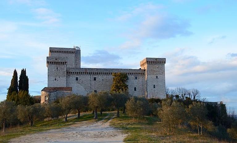 Rocca_Albornoz_(Narni)_-_Lateral_view