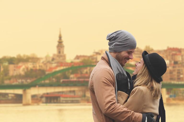 A frustratingly beautiful couple enjoying Valentine's in Belgrade