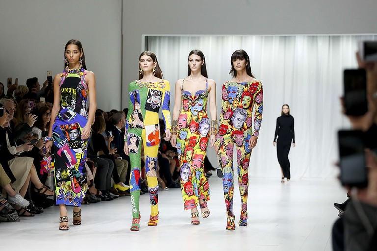 Versace, Runway – Spring/Summer 2018, Fashion Week, Milan, Italy (22 Sep 2017)| © Pixelformula/SIPA/REX/Shutterstock