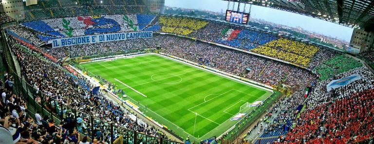 Milan's San Siro stadium, shared by A.C. Milan and Inter Milan