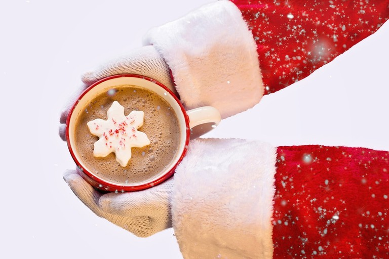 Hot chocolate is a favorite drink in Peru at Christmas