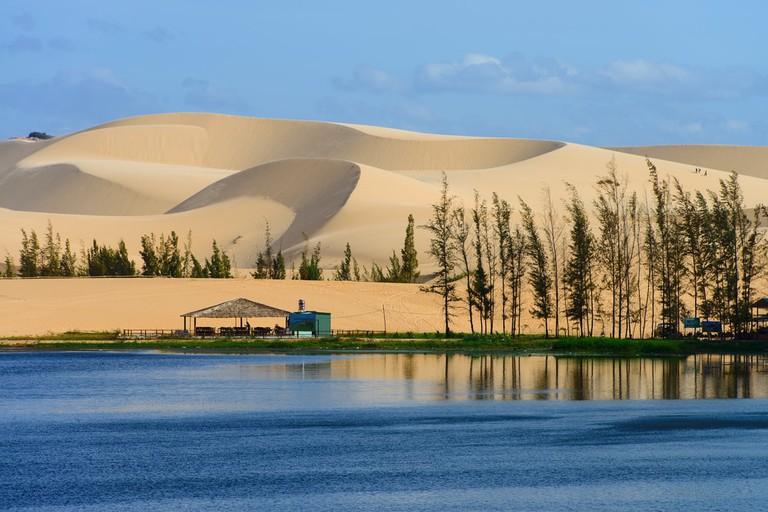 White sand dune in Mui Ne, Vietnam