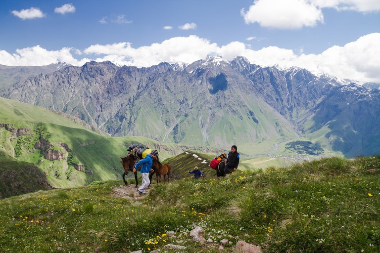 Trekking the Caucasus Mountains can be challenging even for locals | © Milosz Maslanka/Shutterstock