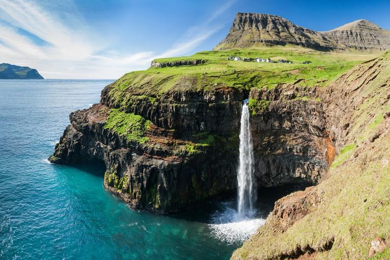 Waterfall on Faroe Islands