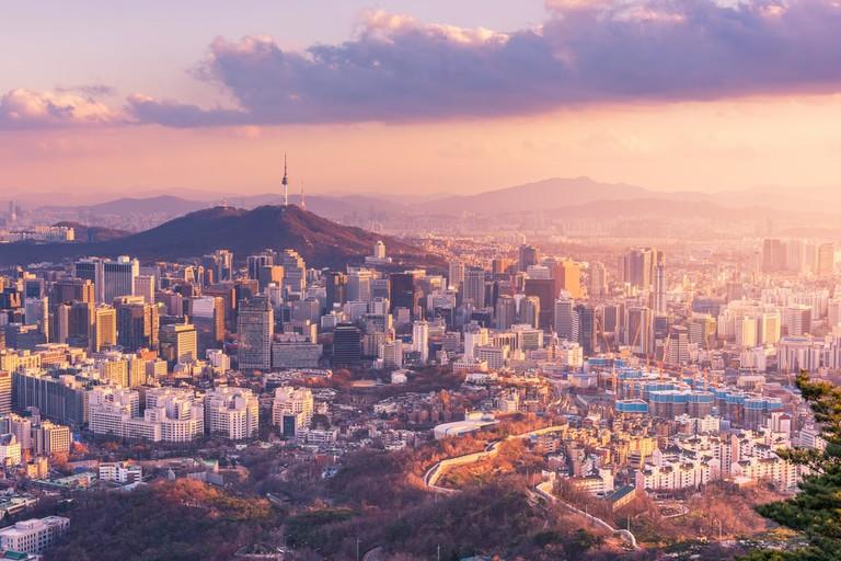 Seoul City Skyline, the best view of South Korea