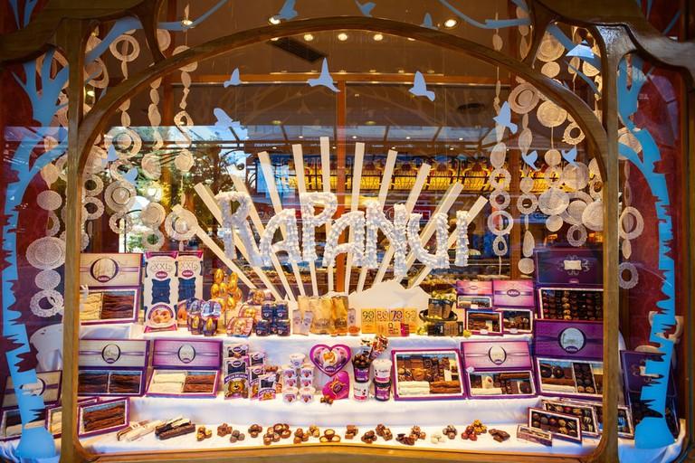 Chocolate store showcase in Bariloche, Argentina