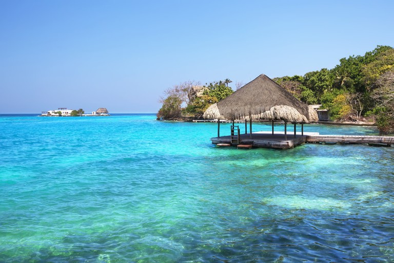 The paradise waters of the Rosario Islands