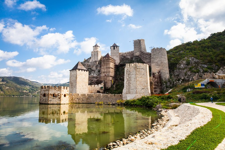 The magnificent fortress at Golubac