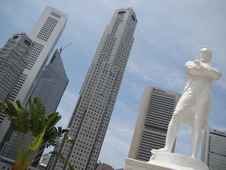 Singapore Sir Thomas Stamford Raffles Statue