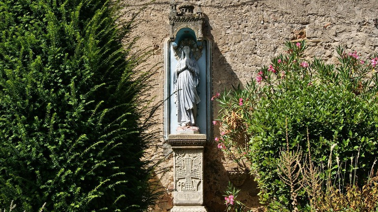 The statue of Mary in Rennes-le-Château