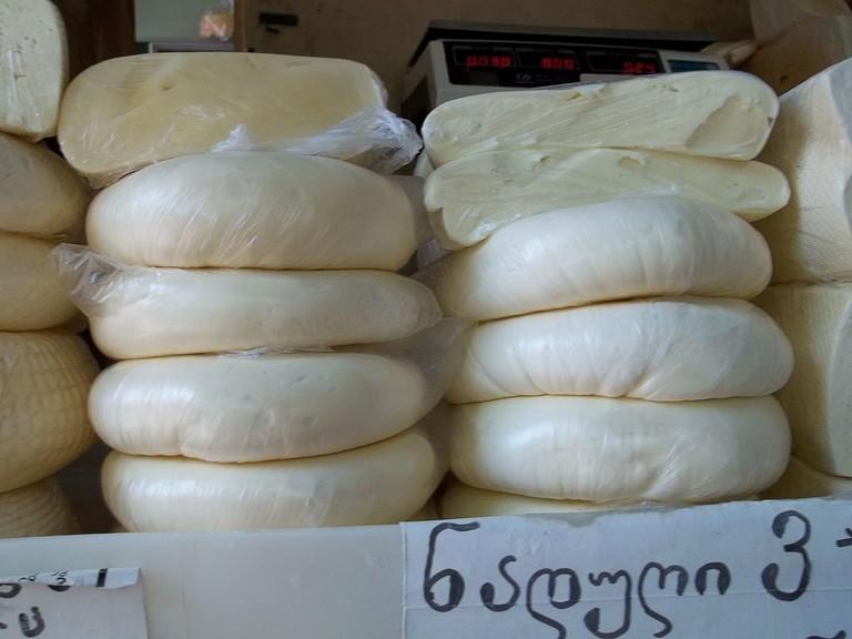 Sulguni Cheese at the bazaar