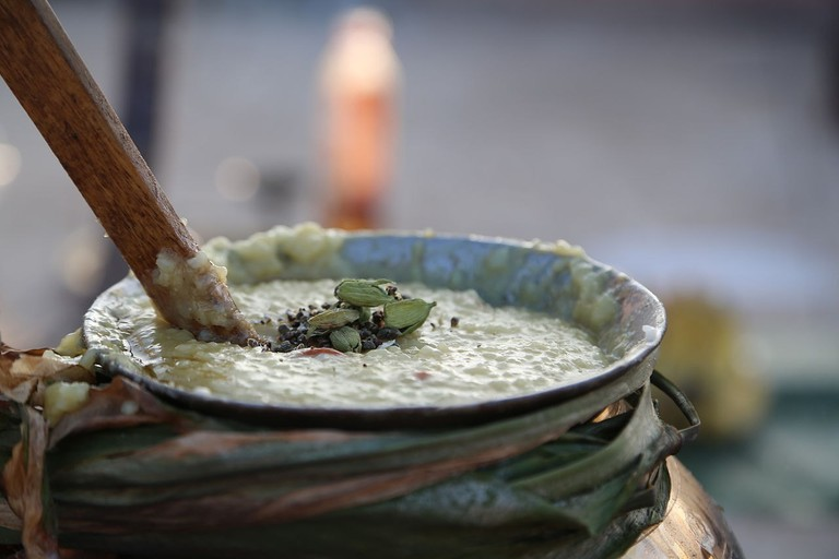 Tamil people celebrate Pongal with a sweet dish known as Sakkara Pongal and propitiate gods by feeding and praying to cows
