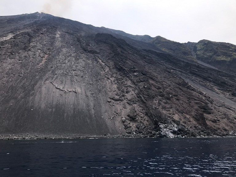 Swim alongside the Sciara del Fuoco, Stromboli; photo- Daria Khan II