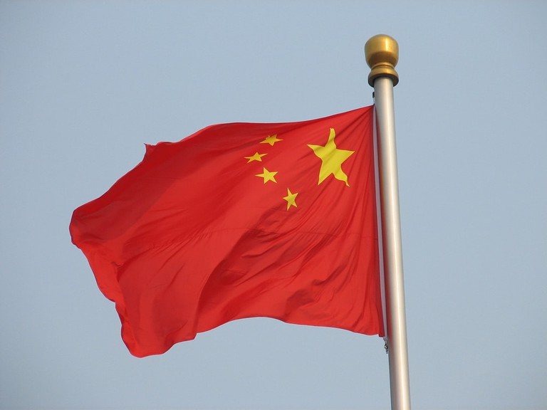 The Chinese flag with similar red backing | © Philip Jagenstedt/Flickr