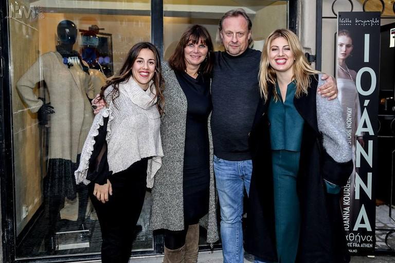 The team- Anastasia Kourbela, Torunn, Svein Rosseland, Ioanna Kourbela | Courtesy of Ioanna Oslo