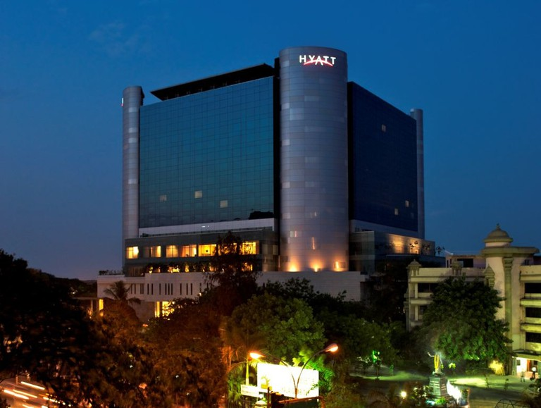 The Hyatt Regency Hotel in Chennai, before being damaged by Cyclone Vardah