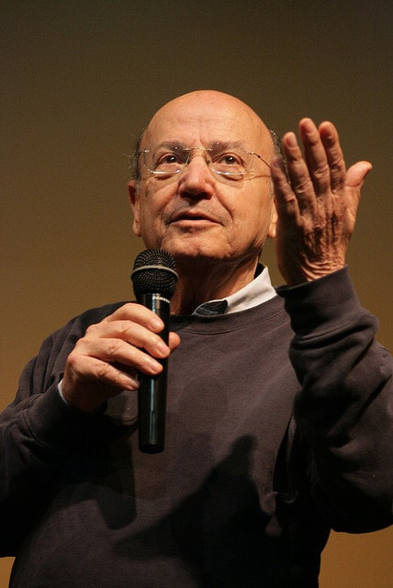 Greek director, Theodoros Angelopoulos presenting his latest film, The Dust of Time in Athens, 26/4/2009