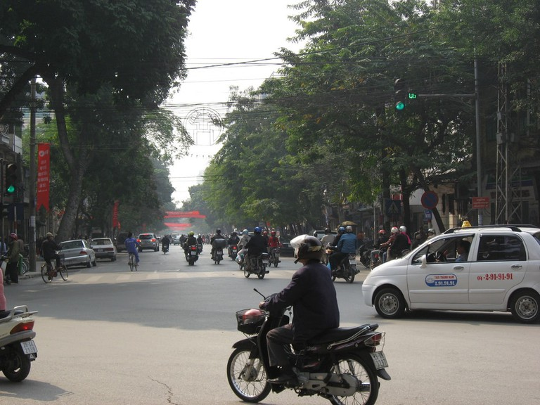 There are quite a few motorbikes in Vietnam