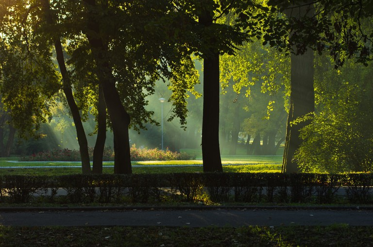 The first rays of a gorgeous Topčider morning