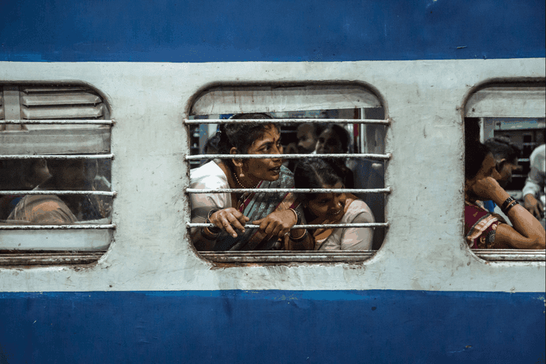 Group of women commuters