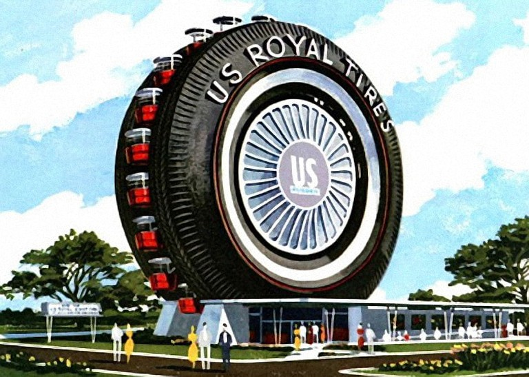 The Ferris wheel as it appeared at the New York World's Fair