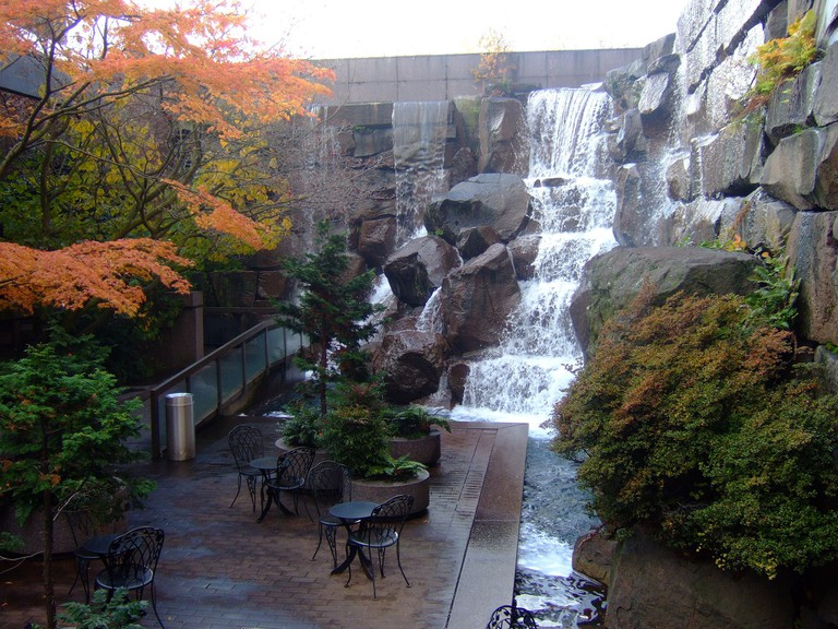 Waterfall Garden Park at First UPS Location
