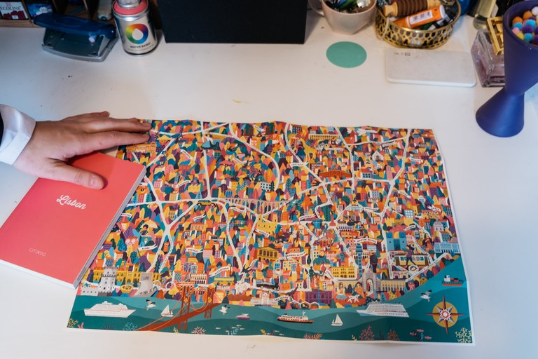 A map of Lisbon designed by Kruella